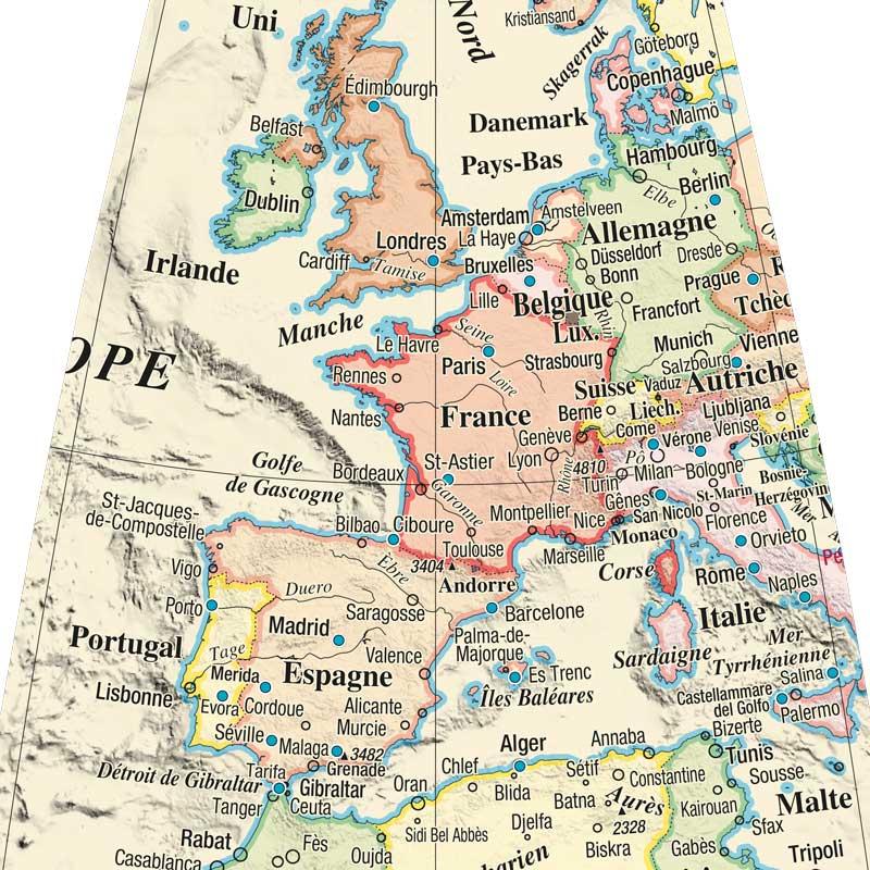 Globe terrestre Litavis, Personnalisé pour des voyages.
