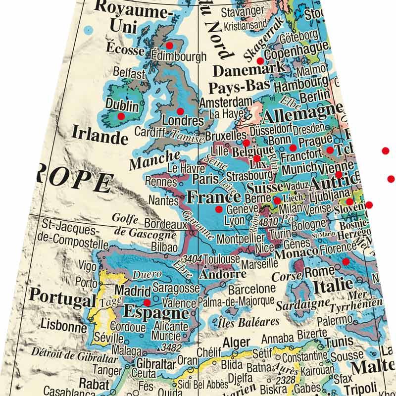 Globe Litavis personnalisation de pays.