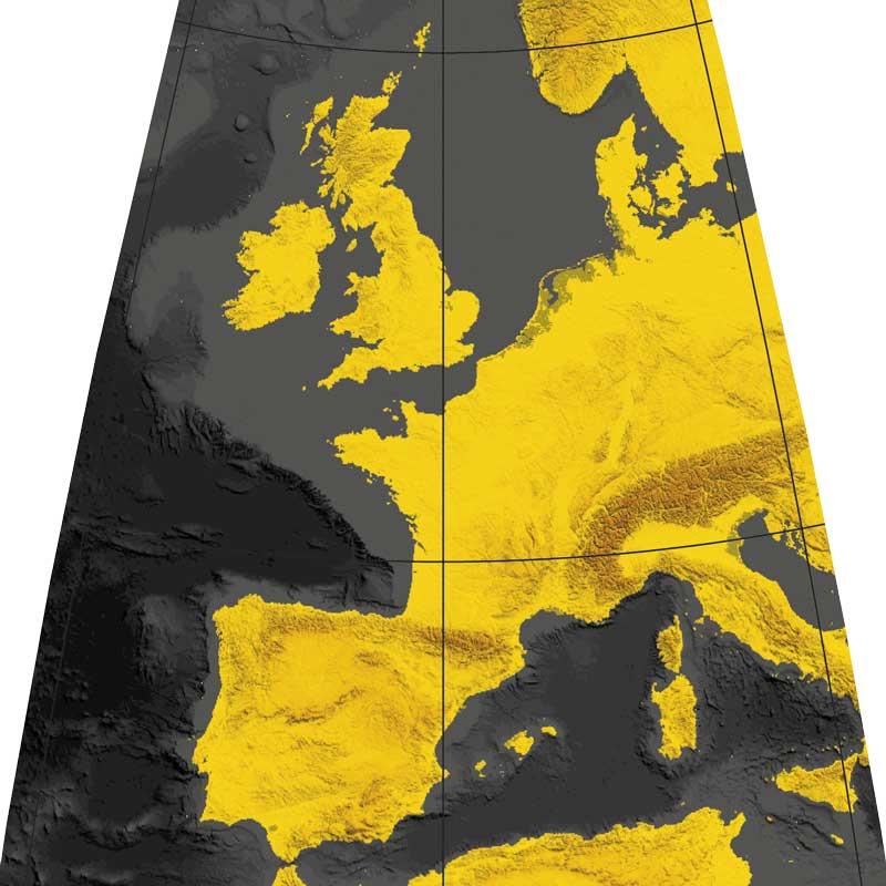 Globe terrestre Litavis noir et or.