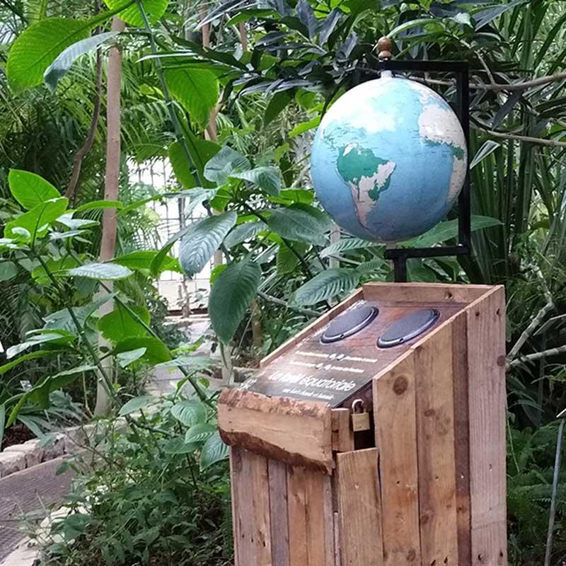 Globe terrestre Litavis pour les serres tropicales de la ville de Lyon.