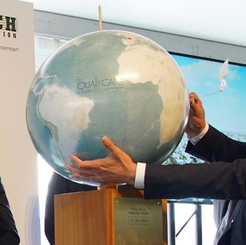 Globe terrestre Litavis de 51 cm pour un événement à Bordeaux