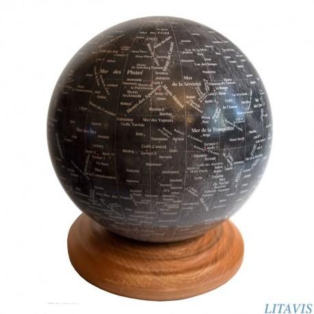 Globe lunaire noir D18,2
