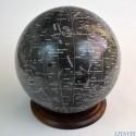 Globe lunaire noir D255
