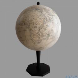 Globe de bureau Litavis S-35 style ancien sur pied droit