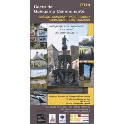 Carte touristique de Guingamp Communauté